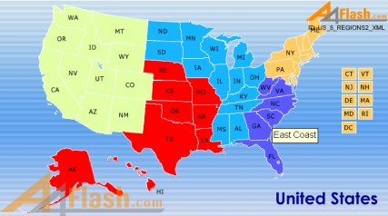 US Maps For Study And Review Regions Of The US Flocabulary