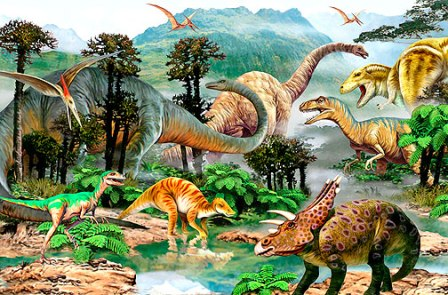 Learning about dinosaurs introduction for Dinosaur land wallpaper mural