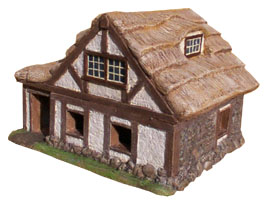 Medieval peasant house model